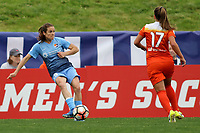 Piscataway, NJ - Saturday May 20, 2017: Kelley O'Hara, Andressa during a regular season National Women's Soccer League (NWSL) match between Sky Blue FC and the Houston Dash at Yurcak Field.  Sky Blue defeated Houston, 2-1.