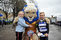 Bath Rugby mascot Maximus with supporters prior to the match. Aviva Premiership match, between Bath Rugby and Wasps on February 20, 2016 at the Recreation Ground in Bath, England. Photo by: Patrick Khachfe / Onside Images