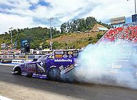 Jun 19, 2016; Bristol, TN, USA; NHRA funny car driver Jack Beckman during the Thunder Valley Nationals at Bristol Dragway. Mandatory Credit: Mark J. Rebilas-USA TODAY Sports