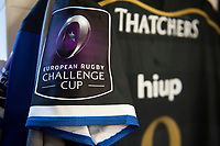 European Rugby Challenge Cup branding on a Bath Rugby jersey. European Rugby Challenge Cup Quarter Final, between Bath Rugby and CA Brive on April 1, 2017 at the Recreation Ground in Bath, England. Photo by: Patrick Khachfe / Onside Images