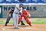 29 May 2011: San Diego Padres infielder Eric Patterson in action against the Washington Nationals at Nationals Park in Washington, District of Columbia. The Padres defeated the Nationals 5-4 to take the rubber match of their 3-game series. Mandatory Credit: Ed Wolfstein Photo
