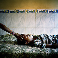 13 year old Rubi Kisan has had a severe attack of malaria. He has just woken from a coma and is likely to suffer serious consequences. His family brought him to the Sundargarh hospital, 30 km from their home and had they waited a few hours longer, he would not have survived.