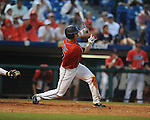 Ole Miss' Taylor Hashman bats vs. Auburn during the Southeastern Conference tournament at Regions Park in Hoover, Ala. on Friday, May 28, 2010.  (AP Photo/Oxford Eagle, Bruce Newman)
