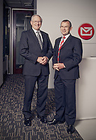 New Zealand Post former chairman Rt Hon Jim Bolger &amp; current chief executive Mr Brian Roche.