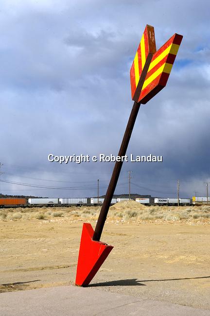 Large arrow at truck stop near Flagstaff, AZ