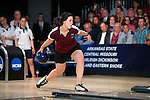 14 APR 2012: Mariana Alvarado (15) of the University of Maryland Eastern Shore bowls during the Division I Womens Bowling Championship held at Freeway Lanes in Wickliffe, OH.  The University of Maryland Eastern Shore defeated Fairleigh Dickinson 4-2 to win the national title.  Jason Miller/NCAA Photos