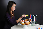 Hanukkah - donuts and candles