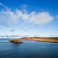 Tulm island and Tulm bay, Duntulm, Trotternish, Isle of Skye, Scotland