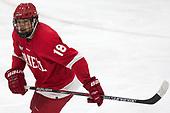 Jared Fiegl (Cornell - 18) - The Harvard University Crimson defeated the visiting Cornell University Big Red on Saturday, November 5, 2016, at the Bright-Landry Hockey Center in Boston, Massachusetts.