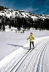 California: Kirkwood, Cross Country Ski, skier, model released, photo: skicrc103 .Photo copyright Lee Foster, www.fostertravel.com, 510/549-2202, lee@fostertravel.com