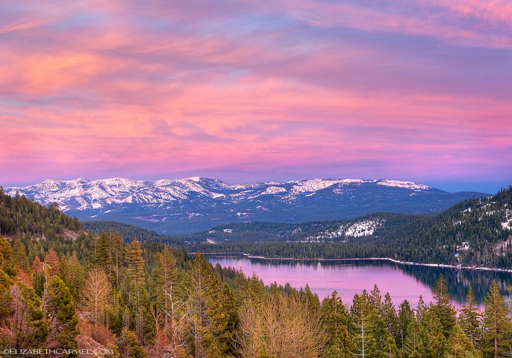April Sunset, Donner Lake