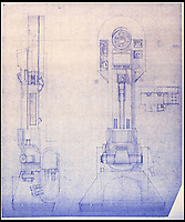 BNPS.co.uk (01202 558833)<br /> Pic: PropStore/BNPS<br /> <br /> Star Wars - Ep IV - A New Hope: R2-D2 Legs Blueprint.<br /> <br /> Fascinating blueprints from the early Star Wars and Star Trek films have been unearthed.<br /> <br /> An auction house is selling a selection of blueprints which include front elevations of R2-D2, interior and exterior set renderings of the Millennium Falcon and front, side and bottom views of the USS Enterprise as well as USS Enterprise set plans.<br /> <br /> The blueprints - many of which have never before been seen by the public - provide a unique insight to fans of the iconic films about how they were made.