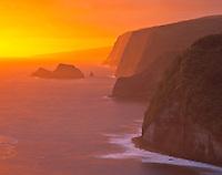 Kohala Coast at Dawn, Pololu Valley Overlook, Big Island of Hawaii, Hawaii