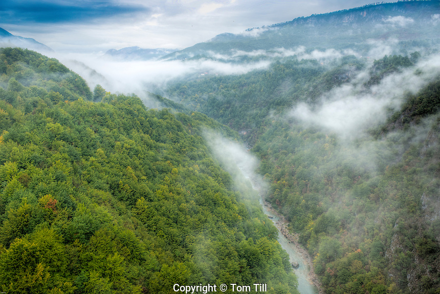 Tara River Canyon, Montenegro, Deep River Canyon Piva Region  Deepest Canyon in Europe