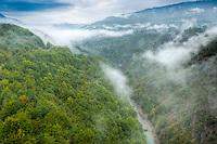 Tara River Canyon, Montenegro, Deep River Canyon Piva Region  Deepest Canyon in Europe
