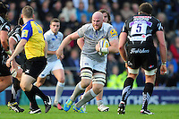 Matt Garvey of Bath Rugby in possession. Aviva Premiership match, between Exeter Chiefs and Bath Rugby on October 30, 2016 at Sandy Park in Exeter, England. Photo by: Patrick Khachfe / Onside Images