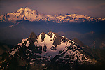 Glacier Peak Wilderness, Washington. Glacier Peak towers over the distinctive Three Fingers massif.
