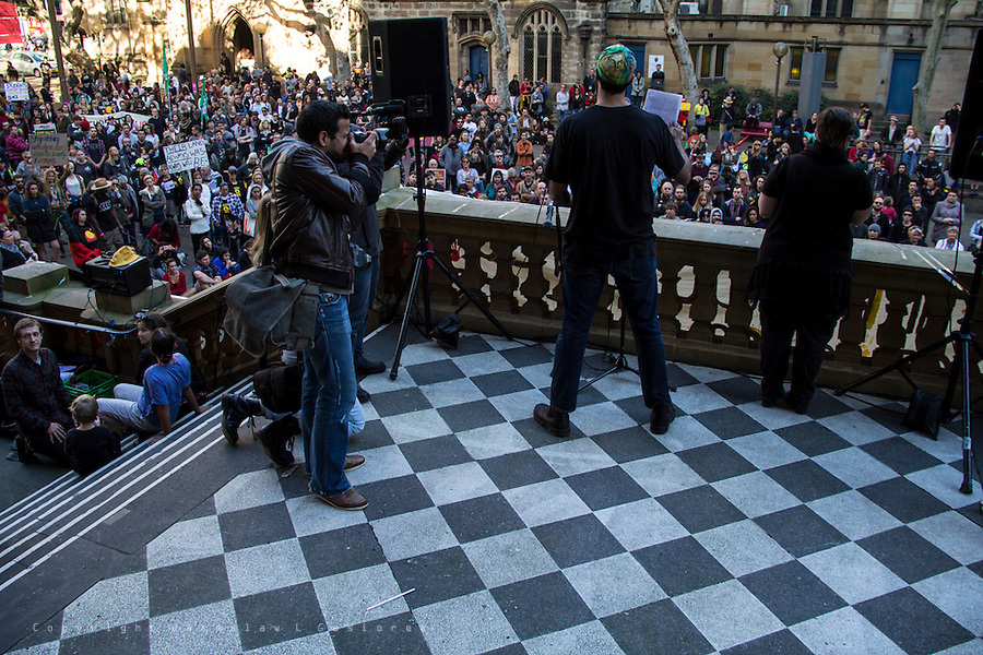 Sydney Stands Up Against Forced Closures of First Nations Communities 28.06.15: Rally at Town Hall