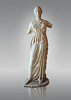 Marble statue of Athena, the Goddess of Wisdom, Skills & Warfare from Leptis Magna, Tripolitana. Roman copy of Greek 5th cent. B.C statue. Istanbul Archaeological Museum, Turkey. Inv. No 435T Cat. Mendel 532.
