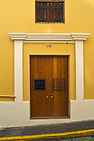 Old San Juan, Historic, Colonial Section, Puerto Rico, USA, Cobble Stone, Streets, Double Doors