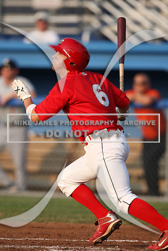 Batavia Muckdogs second baseman Colin Walsh (6) during a game vs. the Connecticut Tigers at Dwyer Stadium in Batavia, New York July 8, 2010.   Connecticut defeated Batavia 4-2 in extra innings.  Photo By Mike Janes/Four Seam Images