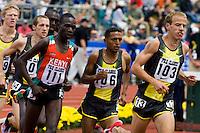 EUGENE, OR--From left, Jonas Cheriyot Zersenay Tadesse Alan Webb race in the men's 2 mile at the Steve Prefontaine Classic, Hayward Field, Eugene, OR. SUNDAY, JUNE 10, 2007. PHOTO © 2007 DON FERIA