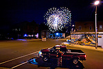 Small town fourth of July fireworks display in Neshkoro, Wisconsin.