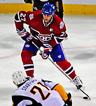 20 December 2008: Montreal Canadiens' right wing forward Alexei Kovalev from Russia, sets to take a shot on the Buffalo Sabres during the third period at the Bell Centre in Montreal, Quebec, Canada. With both teams coming off wins, the Canadiens extended their winning streak by defeating the Sabres 4-3 in overtime. ***** Editorial Sales Only ***** Mandatory Photo Credit: Ed Wolfstein Photo