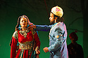 "World premiere of ""Wah! Wah! Girls"" , a British Bollywood musical, at the Peacock Theatre, London. A Sadler's Wells, Theatre Royal Stratford East & Kneehigh production, in association with Hall for Cornwall. Picture shows: Gurpreet Singh (as Tariq) and Sheena Patel (as Young Soraya)."
