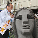 March 24, 2011, Tokyo, Japan - Former Gov. Hideo Higashikokubaru of Miyazaki prefecture, southern Japan, takes to the street in Tokyo's Shibuya district on Thursday, March 24, 2011, as official campaigning for gubernatorial elections started in 12 prefectures including Tokyo. The 53-year-old comedian-turned-politician vies for the post against incumbent Shintaro Ishihara among other candidates in the April 11 election. (Photo by Hiroyuki Ozawa/AFLO) [2178] -mis-.