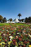 California, San Francisco: Floral display in front of the Conservatory of Flowers in Golden Gate Park..Photo #: 23-casanf78759.Photo © Lee Foster 2008