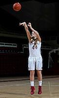 Karlie Samuelson with Stanford Women's basketball team. Photo taken on Wednesday, October 2, 2013