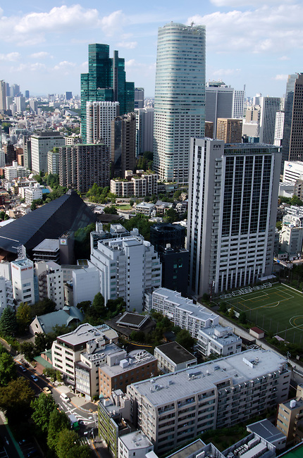 Buildings in the Roppongi district of Tokyo.