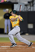 Siena Saints infielder Justin Esquerra (12) during the season opening game against the Central Florida Knights at Jay Bergman Field on February 14, 2014 in Orlando, Florida.  UCF defeated Siena 8-1.  (Copyright Mike Janes Photography)