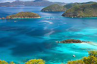 View of Cinnamon Bay looking towards Whistling Cay<br />