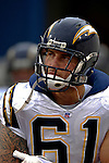 3 December 2006: San Diego Chargers center Nick Hardwick arrives on field prior to a game against the Buffalo Bills at Ralph Wilson Stadium in Orchard Park, New York. The Charges defeated the Bills 24-21. Mandatory Photo Credit: Ed Wolfstein Photo<br />
