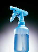 TRANSPARENT PUMP SPRAY BOTTLE<br /> (1 of 2)<br /> Working Parts Are Visible<br /> A reciprocating piston pump pressurizes the water in a spray bottle, expelling it from the nozzle.