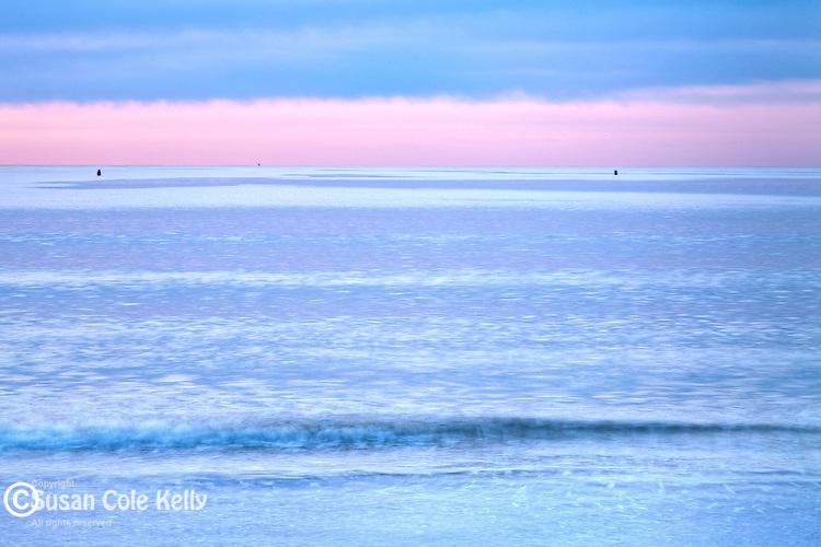 Waves and sky at York Beach, York, Maine, USA