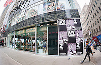 The Topshop Topman store in New York promotes Ivy Park, Beyoncé's line of athleisure wear, seen on Tuesday, April 12, 2016. The clothing will go on sale on Thursday at Topshop, Nordstrom and Pret-a-Porter. (© Richard B. Levine)