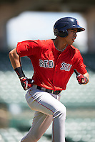 Boston Red Sox Stanley Espinal (25) during an Instructional League game against the Baltimore Orioles on September 22, 2016 at the Ed Smith Stadium in Sarasota, Florida.  (Mike Janes/Four Seam Images)