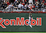 30 September 2009: New York Mets' center fielder Angel Pagan is unable to get to Justin Maxwell's Grand Slam at Nationals Park in Washington, DC. The Washington Nationals rallied in the bottom of the 9th inning on Maxwell's walk-off Slam to win 7-4 and sweep the Mets 3-game series capping the Nationals' 2009 home season. Mandatory Credit: Ed Wolfstein Photo