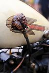 Vintage American Harley Davidson motorbike detail