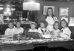 Point Breeze:  View of Helen Stewart's birthday party and friends at her grandparents house in Point Breeze - 1921. During this time, the Brady Stewart family was living with relatives (Matthews) at 6708 Thomas Street in Point Breeze.