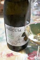 albarin Pricum bottle Bodegas Margon , DO Tierra de Leon , restaurant Imprenta Casado, Leon spain castile and leon