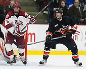 Luke Esposito (Harvard - 9), Alec Rush (Princeton - 2) - The Harvard University Crimson defeated the Princeton University Tigers 3-2 on Friday, January 31, 2014, at the Bright-Landry Hockey Center in Cambridge, Massachusetts.
