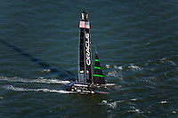 aerial photograph Oracle Racing America's Cup San Francisco bay California