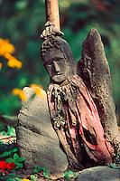 .Wayside 'god' or charm, Marsyandi Valley, Annapurna region, Nepal Himalaya..
