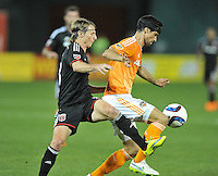 Washington D.C. - March 28, 2015: The Houston Dynamo tied D.C. United 1-1 during a game of the 2015 Major League Soccer season at RFK Stadium.
