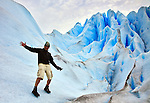 Goofing around on Glacier Perito Moreno in Parque Nacionales los Glaciares, Argentina.