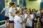 BIRMINGHAM, AL - MARCH 11: The Drury University Wome's Swimming and Diving team console each other after their second place loss to Queens University (NC) during the Division II Men's and Women's Swimming & Diving Championship held at the Birmingham CrossPlex on March 11, 2017 in Birmingham, Alabama. The Drury Women scored a combined total of 385 points. (Photo by Matt Marriott/NCAA Photos via Getty Images)
